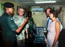 We met with military leaders of Sierra Leone, including Chaplain Kargbo, a fellow brother in Christ.