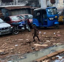 A small boy on the streets of Freetown